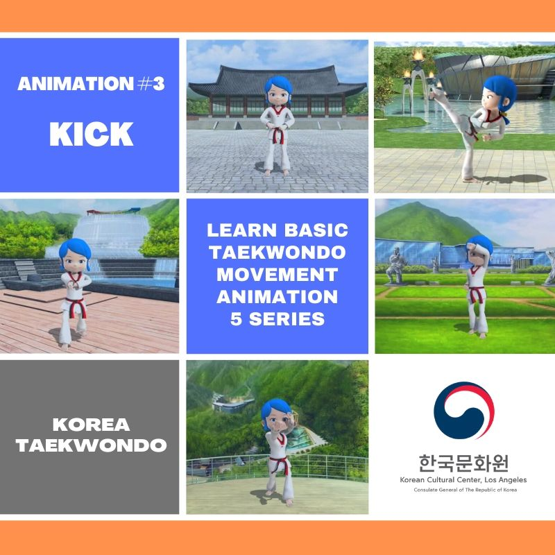 Learn Basic Taekwondo Movements Through Animation : Ep. 3 Kick