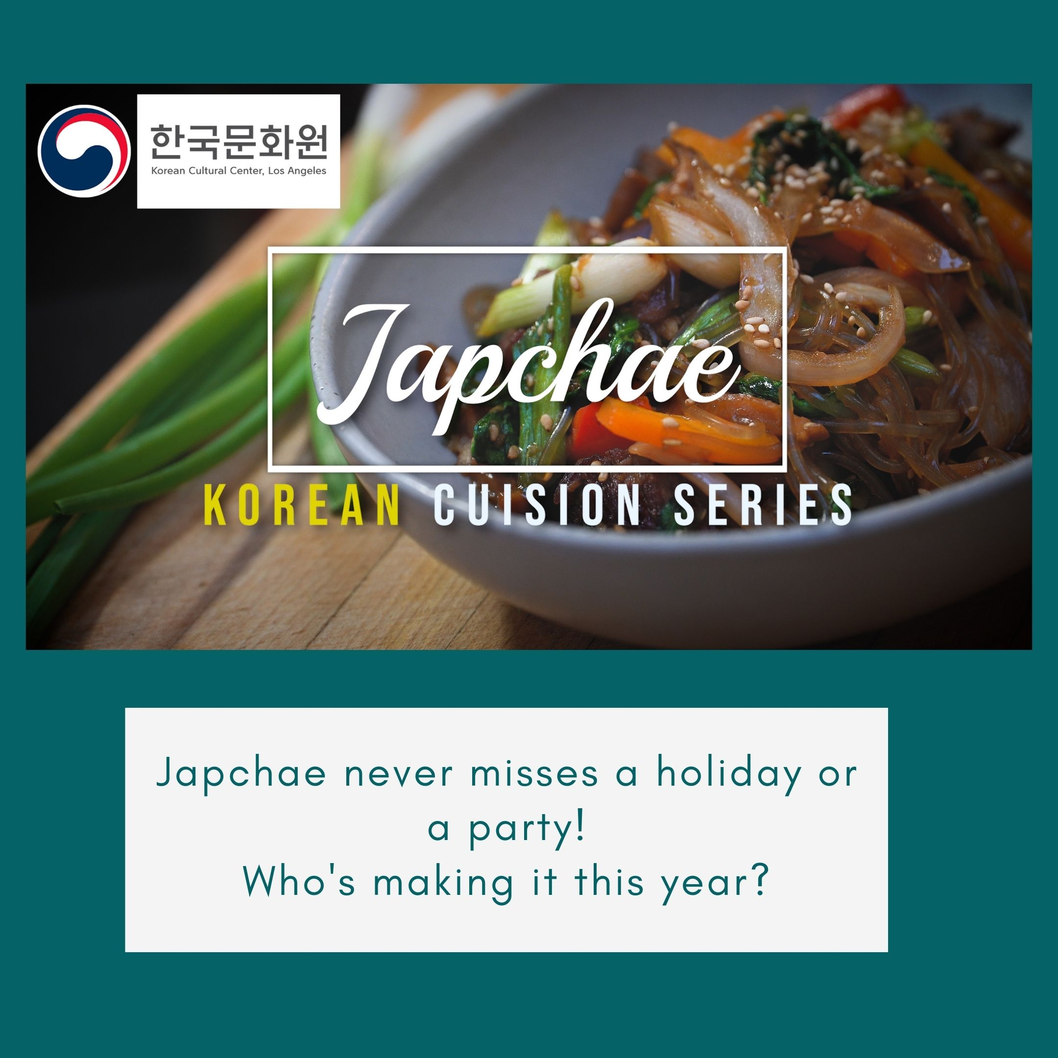 Korean Cuisine Series_Japchae