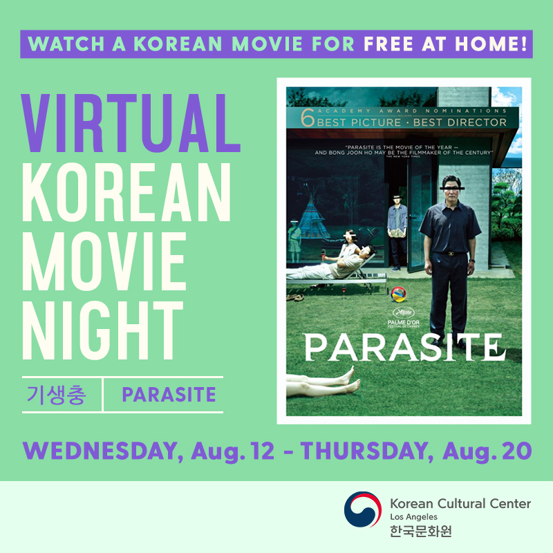 Virtual Korean Movie Night (Parasite)