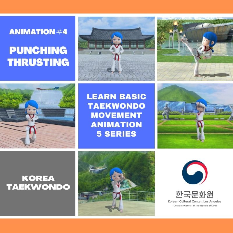 Learn Basic Taekwondo Movements Through Animation : Ep. 4 Punching, Thrusting